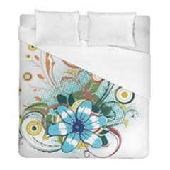 Flower Wallpaper Duvet Cover (full/ Double Size) by Jojostore