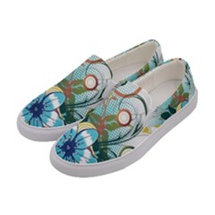 Flower Wallpaper Women s Canvas Slip Ons by Jojostore