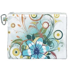 Flower Wallpaper Canvas Cosmetic Bag (xxl) by Jojostore