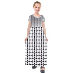 Decorative Ornamental Abstract Kids  Short Sleeve Maxi Dress by Jojostore