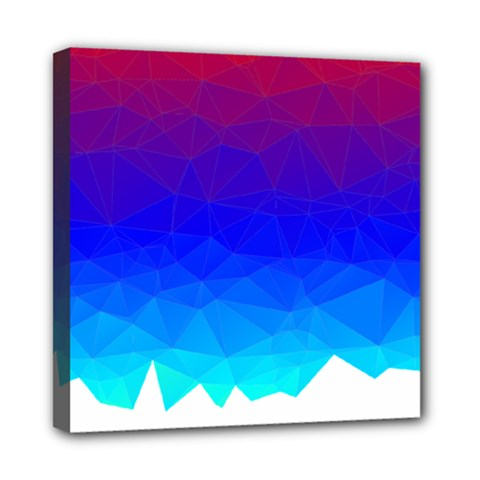 Gradient Red Blue Landfill Mini Canvas 8  X 8  (stretched) by Jojostore