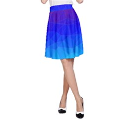 Gradient Red Blue Landfill A Line Skirt