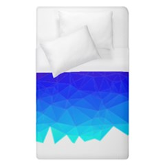 Gradient Red Blue Landfill Duvet Cover (single Size)