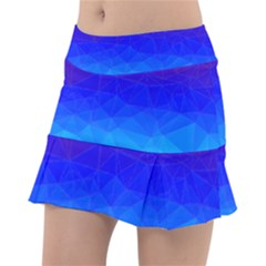 Gradient Red Blue Landfill Tennis Skirt