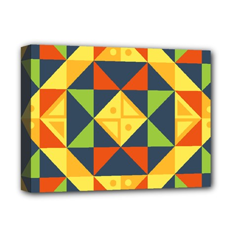 Geometric Color Deluxe Canvas 16  X 12  (stretched)