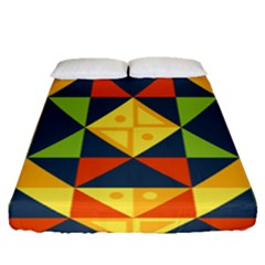 Geometric Color Fitted Sheet (queen Size) by Jojostore