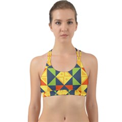 Geometric Color Back Web Sports Bra by Jojostore