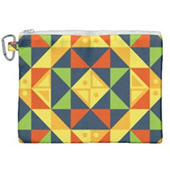 Geometric Color Canvas Cosmetic Bag (xxl)