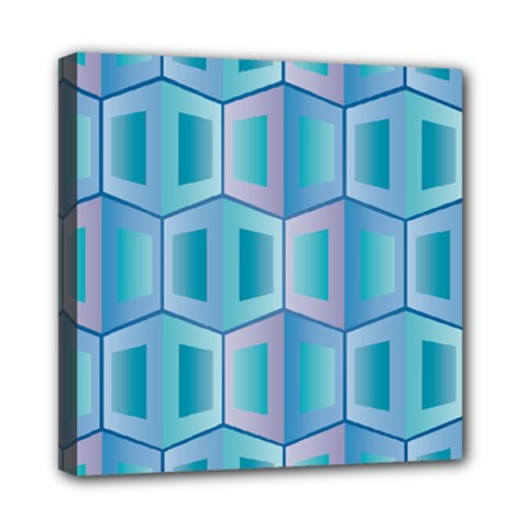 Geometric Background Pattern Mini Canvas 8  X 8  (stretched)
