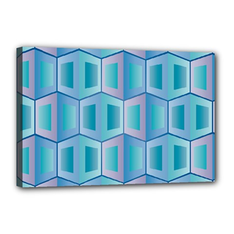 Geometric Background Pattern Canvas 18  X 12  (stretched)