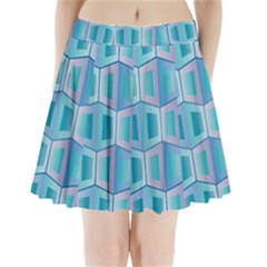 Geometric Background Pattern Pleated Mini Skirt by Jojostore