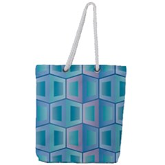 Geometric Background Pattern Full Print Rope Handle Tote (large)