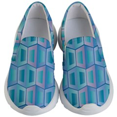Geometric Background Pattern Kids  Lightweight Slip Ons by Jojostore