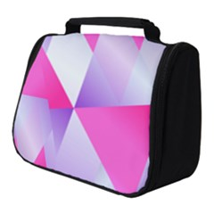 Gradient Geometric Shiny Light Full Print Travel Pouch (small) by Jojostore
