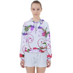 Flowers Floral Women s Tie Up Sweat