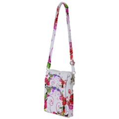 Flowers Floral Multi Function Travel Bag