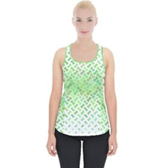 Green Pattern Curved Puzzle Piece Up Tank Top