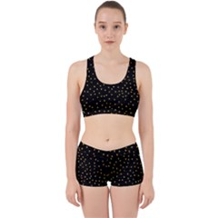 Grunge Pattern Black Triangles Work It Out Gym Set by Jojostore