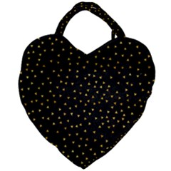 Grunge Pattern Black Triangles Giant Heart Shaped Tote by Jojostore