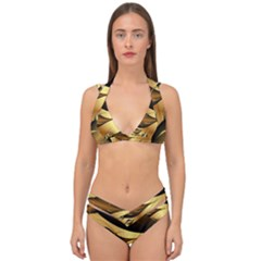 Fractals Background Texture Double Strap Halter Bikini Set by Jojostore