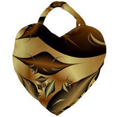 Fractals Background Texture Giant Heart Shaped Tote