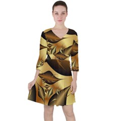 Fractals Background Texture Ruffle Dress by Jojostore