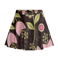 Flower Wallpaper Floral Mini Flare Skirt