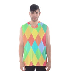 Low Poly Triangles Men s Basketball Tank Top