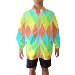 Low Poly Triangles Windbreaker (kids)