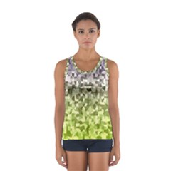 Irregular Rectangle Square Mosaic Sport Tank Top  by Jojostore