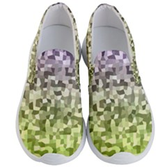 Irregular Rectangle Square Mosaic Men s Lightweight Slip Ons