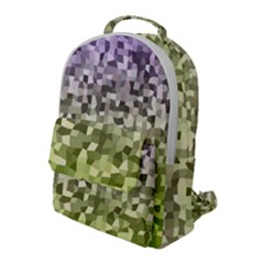 Irregular Rectangle Square Mosaic Flap Pocket Backpack (large)