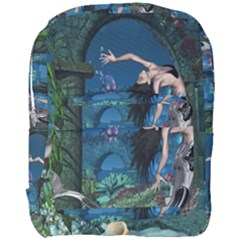Wonderful Mermaid In The Deep Ocean Full Print Backpack by FantasyWorld7