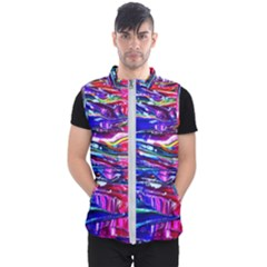 Paint Splatter   Rainbow Men s Puffer Vest