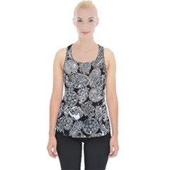 Black & White Paisley Piece Up Tank Top