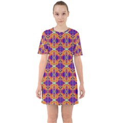 New Stuff 2 8 Sixties Short Sleeve Mini Dress by ArtworkByPatrick