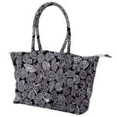 Black & White Paisley Canvas Shoulder Bag by WensdaiAddamns