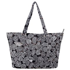 Black & White Paisley Full Print Shoulder Bag by WensdaiAddamns