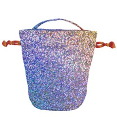 Pastel Rainbow Shimmer   Eco  Glitter Drawstring Bucket Bag by WensdaiAddamns
