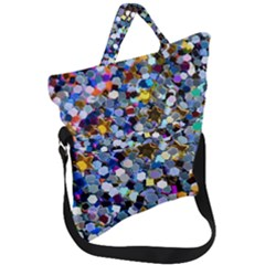 New Years Shimmer   Eco  Glitter Fold Over Handle Tote Bag by WensdaiAddamns