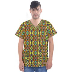 Ml 1 Men s V Neck Scrub Top by ArtworkByPatrick