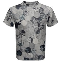 Grayscale Tiles Men s Cotton Tee