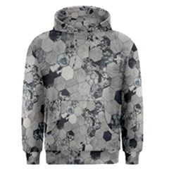 Grayscale Tiles Men s Pullover Hoodie