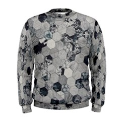 Grayscale Tiles Men s Sweatshirt