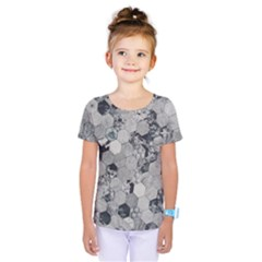 Grayscale Tiles Kids  One Piece Tee