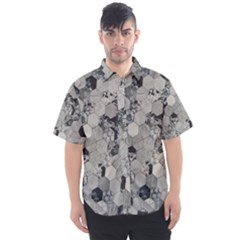 Grayscale Tiles Men s Short Sleeve Shirt