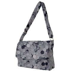 Grayscale Tiles Full Print Messenger Bag