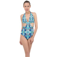 Ml 6 Halter Front Plunge Swimsuit