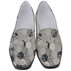 Grayscale Tiles Women s Classic Loafer Heels
