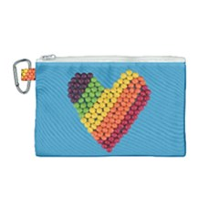 What A Sweet Heart Canvas Cosmetic Bag (medium)